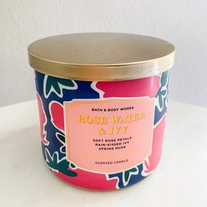 Bath and body works 3 wick Rose water & ivy candle